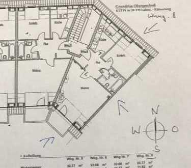 Sehr interessante, gepflegte 3-Zimmer-Maisonette-Wohnung mit Balkon und Einbauküche in Laboe