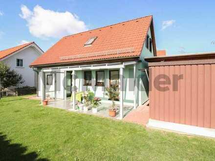 Komfortabel wohnen in idyllischer Lage nahe Bautzen: Niedrigenergiehaus mit schöner Gartenterrasse