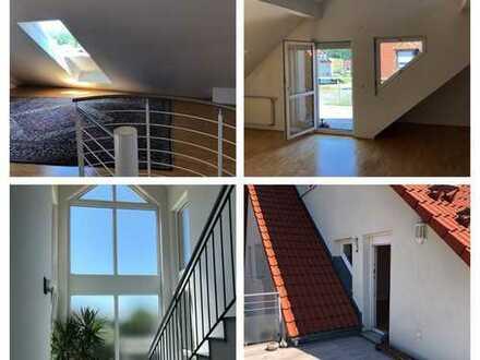 Schöne, geräumige drei Zimmer Maisonette Wohnung in Sommerhausen