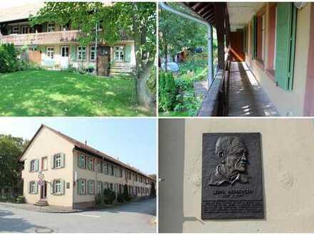Mannheim-Waldhof: Eine Wohnung wie ein Haus mit Charme, Geschichte und Erinnerungen! (# 4663a)