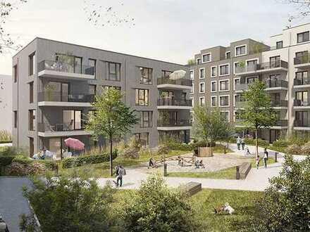 Optimal für kleine Familien! 3-Zimmer-Neubauwohnung im 1. OG mit EBK und 2 Bädern nahe Stadtzentrum