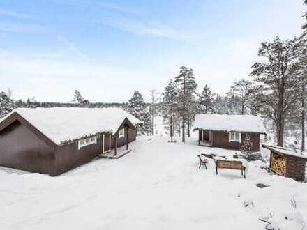 Schönes Ferienhaus + Grundstück am Sørungen-See