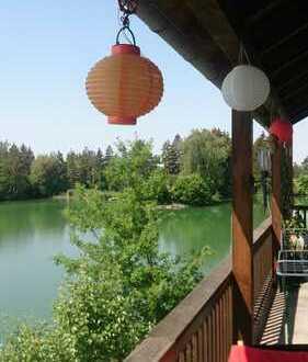 Haus am See, Privatstrand mit Sauna, Balkon, Fußbodenheizung, Parkett, EBK, verglaste Westseite