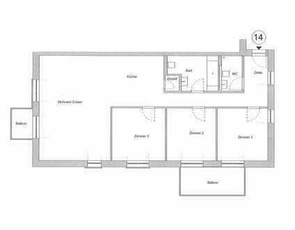 Erstbezug in Gartenquartier mit KfW 55-Standard - Komfortable 4ZKB Eigentumswohnung mit 2 Balkonen