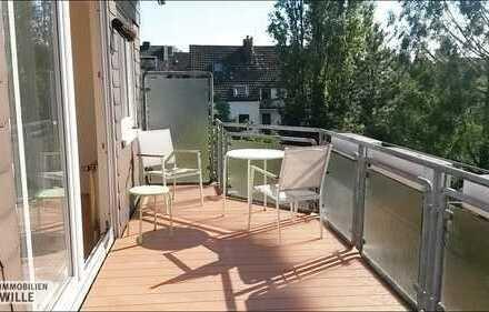2,5 Zimmer Maisonettewohnung mit Kamin in D-Grafenberg zu vermieten.