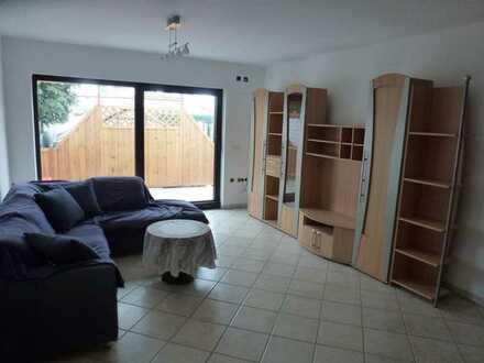 2-Zimmer-Wohnung mit Terrasse und Garten in zentraler Lage, EBK, teilmöbliert - Kelsterbach