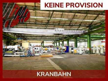 PROVISIONSFREI! Halle (5.600 qm) mit 2 x 20 to Kranbahn zu vermieten