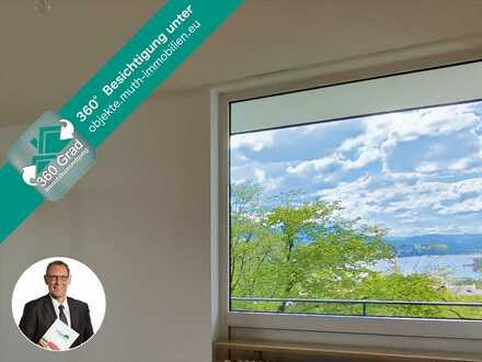 Helle & sonnige 3 Zimmer Wohnung mit 81,4 m² Wfl. und wunderbarem See- UND Bergblick, zentrale Lage.