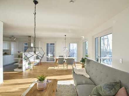 60 m² Dachterrasse mit 3-Zi. Wohnung