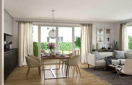 2-Zimmer-Wohnung mit Tageslichtbad und Gartenanteil