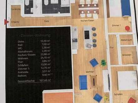 Exklusive, geräumige und neuwertige 3-Zimmer-Wohnung mit Balkon und Einbauküche in Offenburg