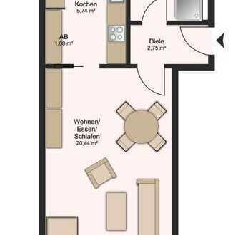 Schöne, geräumige 1-Zi-Wohnung in Leipzig - Eutritzsch, DG