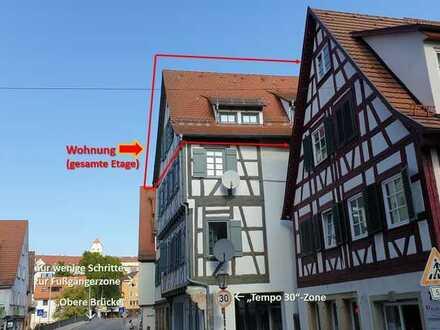 Bezugsfreie sonnige Altstadtwohnung in Top-Lage: Fußg.-Zone+BHF in 3 FußMin. Von BHF in 8 Min bis TÜ