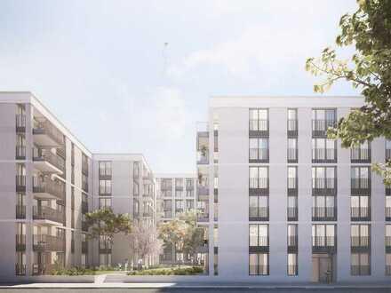 Einkäufe im direkten Umfeld, Parks in der Nähe: Barrierefreie 4-Zi.-EG-Wohnung mit Terrassen-Loggia