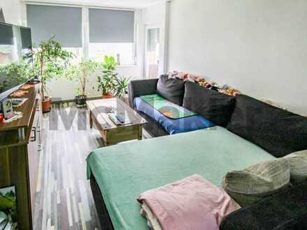 Schön geschnittene 2-Zimmer-Wohnung mit Sonnenbalkon in ruhiger Lage
