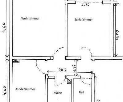 Gut geschnittene 3,5-Zimmer-Erdgeschosswohnung mit Balkon in ruhiger, zentraler Lage