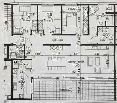 155qm Penthouse-Wohnung, neuwertige 4,5-Zimmer mit Balkon in Remseck am Neckar /Pattonville