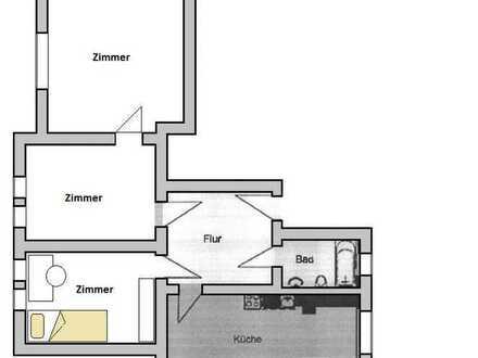 Helle 3-Raum-Wohnung- 1 Monat Mietfrei