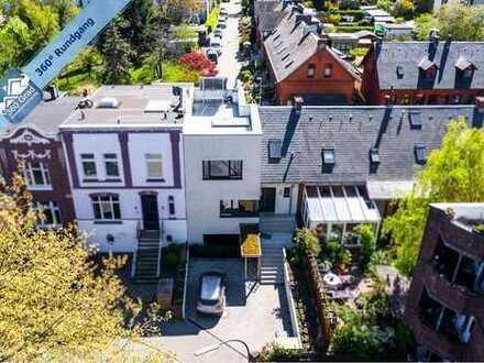 Modernes Townhouse mit Dachterrasse im beliebten Hamburg-Eppendorf!