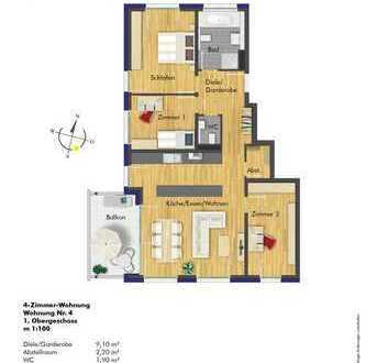 4-Zi.-ETW im 1.OG - Sichern Sie sich eine der attraktiven Wohnungen!