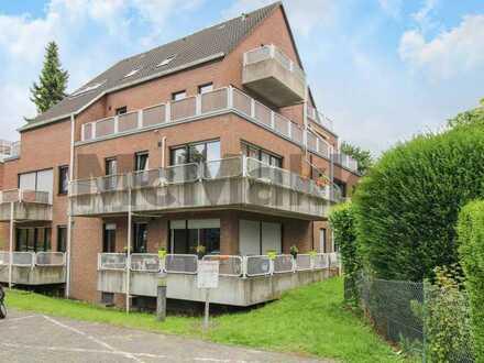 Gute, naturnahe Lage: Gepflegtes 1-Zi.-Apartment mit Balkon in Nienberge - Erbbaurecht