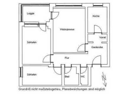 gut vermietet 3 Zimmerwohnung mit toller Loggia in Gauting zu verkaufen