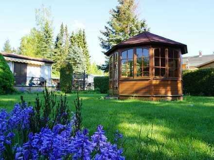 Wunderbares idyllisches Freizeitgrundstück Wochenendgrundstück + Bungalow + Pavillon teilerschlossen