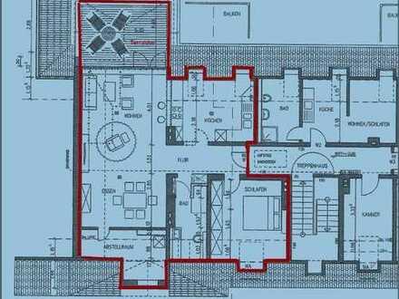 Schöne, geräumige zwei Zimmer Wohnung mit Dachterrase in Essen, Südostviertel