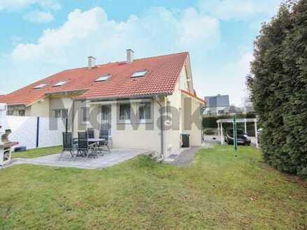 Gehobenes Wohnen: DHH mit Marmorboden, Fußbodenheizung und Südwestterrasse bei Chemnitz