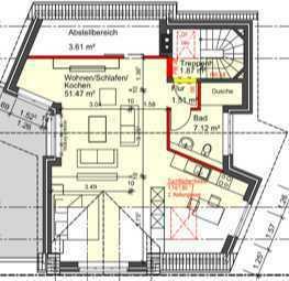 Erstbezug: geräumige 1,5-Zimmer-Dachgeschosswohnung mit gehobener Innenausstattung in Dorsten