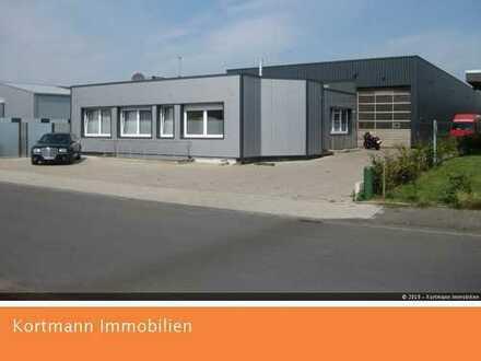 Gewerbehalle mit Freiflächen, Büro und Betriebsleiterwohnung in Saerbeck