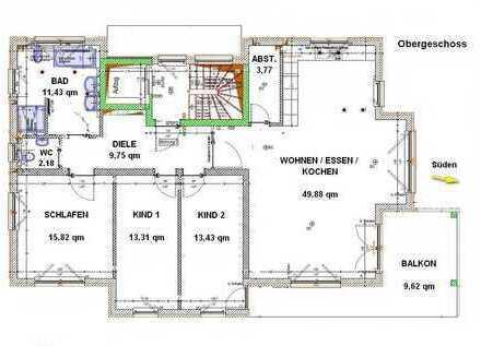 Erstbezug: gehobene 4,5 Zimmer Wohnung mit Balkon in Nufringen