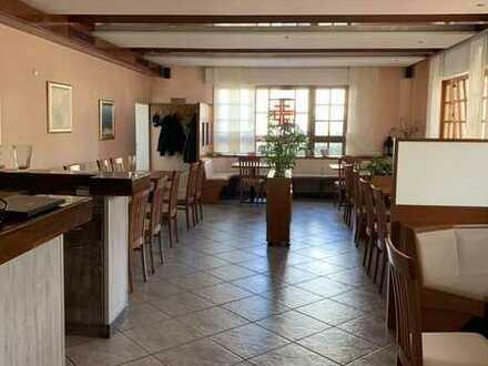 Alt eingesessene Vereinsgaststätte + Biergarten + 4 Zi. Wohnung in guter Lage von Seligenstadt