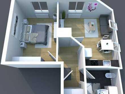 Schöne, helle 40 m² große 2 Zimmerwohnung, zentral gelegen