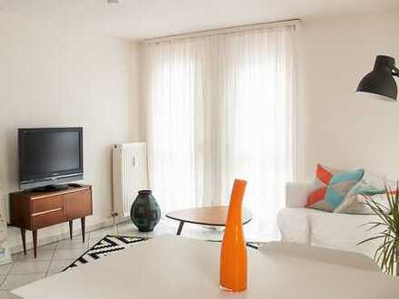 Online buchen: möbl. 2-Zimmerwohnung mit Sonnenterrasse, Wlan, TV, Küche, Du/Wc, ab 1 Monat buchbar