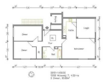 Hier wird gerade renoviert !Helle freundliche Wohnung mit Balkon*Wannenbad mit Fenster *Keller*EBK