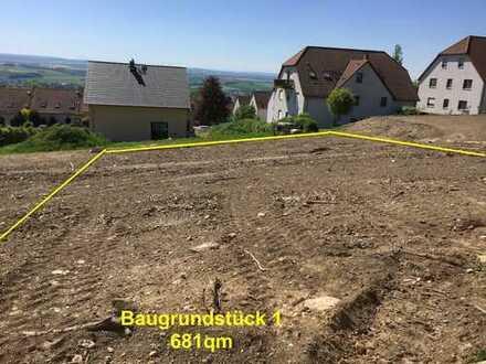 Voll erschlossenes prov.-und bauträgerfreies Baugrundstück 681qm (Flächenvergrößerung möglich)