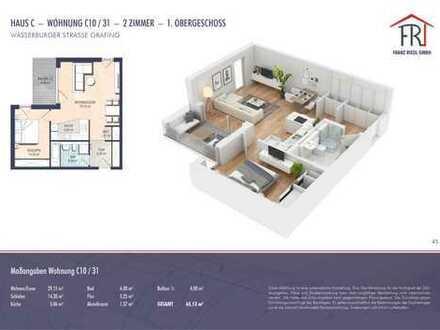 2-Zimmer-Wohnung mit Balkon in entspannter Umgebung