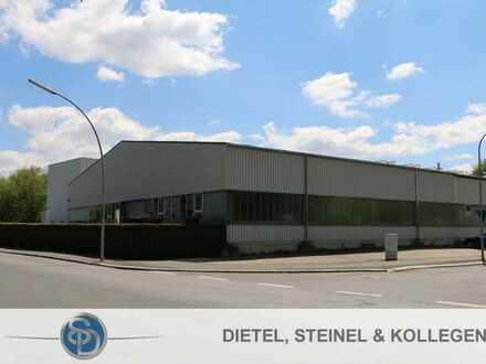 Großzügiges Gewerbeareal mit Produktions-/ Lagerhallen, sehr gepflegtem Bürotrakt,  zentralgeleg