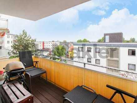 Vermietete Kapitalanlage: Gepflegte 3-Zi.-ETW mit sonnigem Südwest-Balkon am grünen Stadtrand