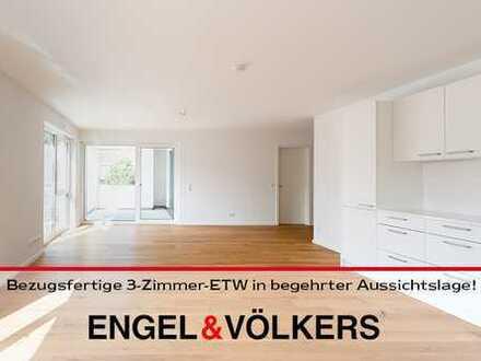 Neubau: Bezugsfertige, moderne 3-Zimmer-ETW in begehrter Aussichtslage