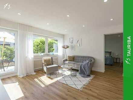 +++Moderne & frisch renovierte Wohnung im Grünen mit Terrasse & Außenstellplatz+++