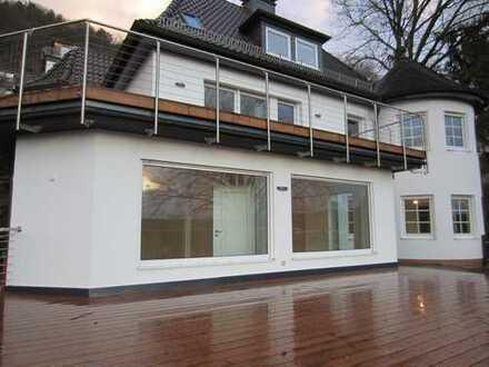 Schlossblick: 3-Zimmer-EG-Wohnung mit großer Terrasse+Kaminofen