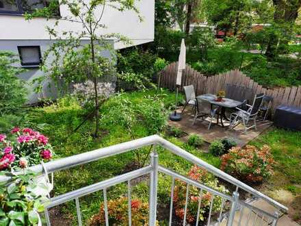 Gepflegte 3-Raum-Wohnung mit kleinem Garten, Terrasse und Einbauküche in Bühl
