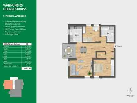 Schicke 3-Zimmerwohnung im Obergeschoss!