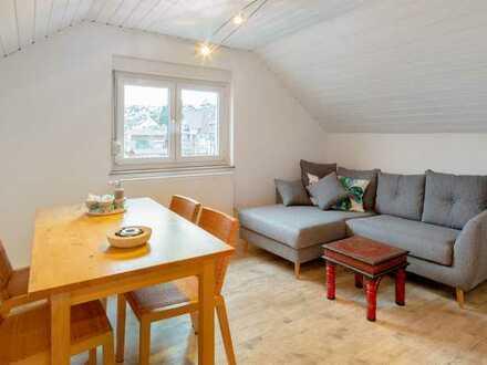 Exklusive, gepflegte 2-Zimmer-Dachgeschosswohnung Nähe Neubaugebiet von Wimsheim