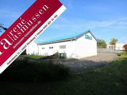 ASMUSSEN IMMOBILIEN - Baugrundstück, Gewerbehalle und Wohnhaus
