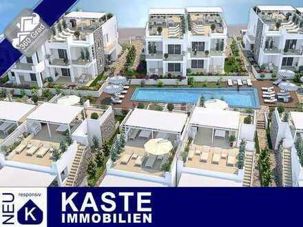 Strandlage im Erstbezug: wunderbares EG-Apartment mit Terrasse und Pool