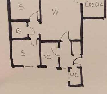 Gepflegte 3-Zimmer-Wohnung mit Balkon und Einbauküche in Bamberg