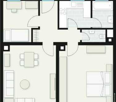 Attraktive 2,5 Zimmer Wohnung